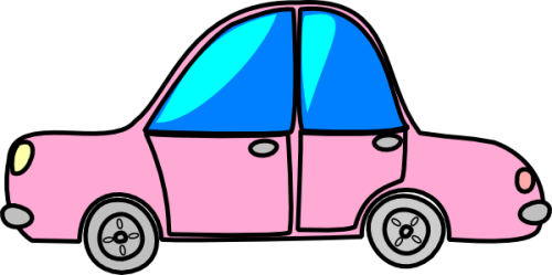 car-pink-transport-cartoon-hi
